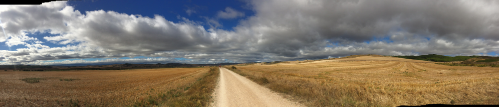 De weg naar Santiago is erg lang en erg mooi