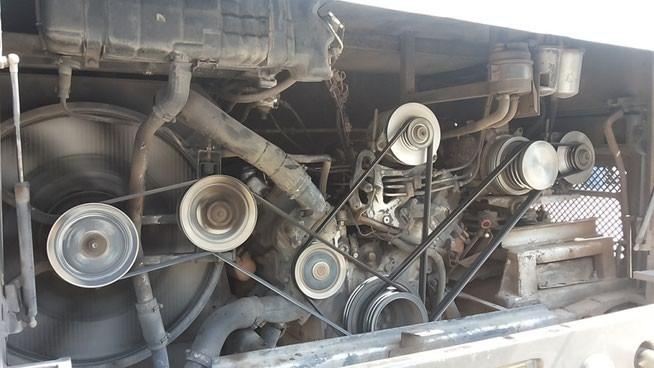 Фото дня 04.12.2014 Двигатель пассажирского рейсового автобуса.