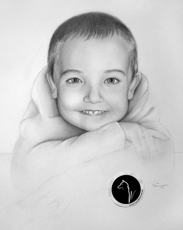 Das fertige Porträt / Bleistift auf Zeichenkarton / A3