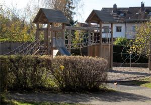 Blick in den Garten des Kindergartens