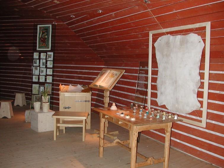 Abtei Seckau, Schreibstube in der Ausstellung DIE MACHT DES WORTES