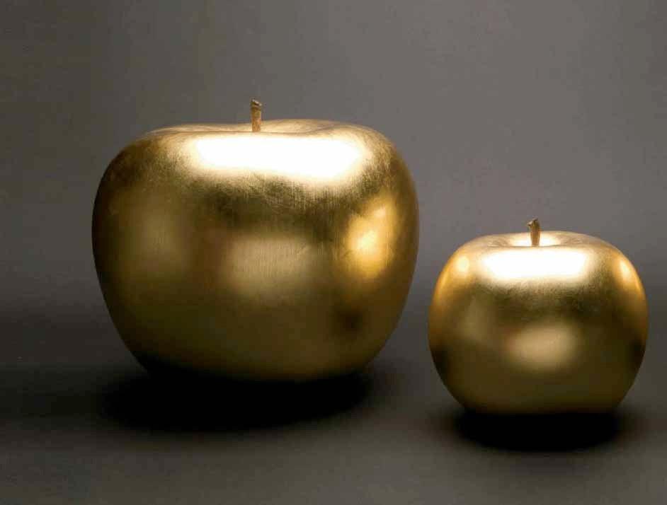 Apfel Gold Skulptur