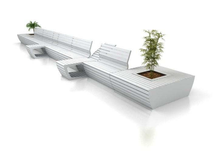 Pflanzkübel CAB- RE mit Sitzbank+Liege