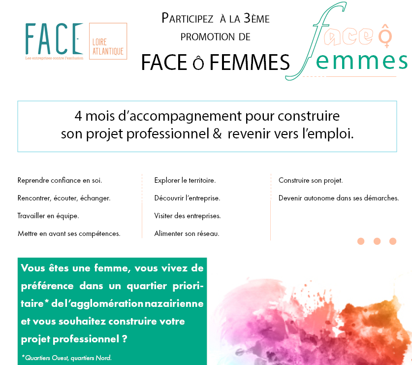 Vous êtes en recherche d'emploi et habitez à St-Nazaire, rejoignez FACE ô femmes  !