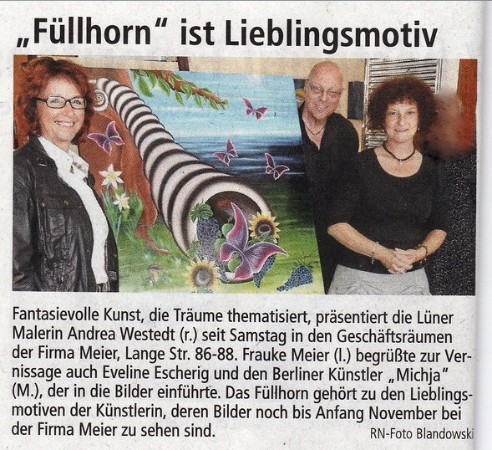 Ausstellung der Aktion *Lüner Lichter* bei Firma Meier / Lünen