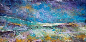Beachwalk - Öl / Acryl auf Leinwand - 50 x 120