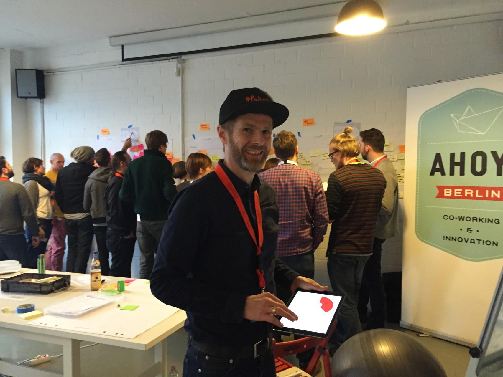 Stefan Haas freut sich über die aktiven Teilnehmer
