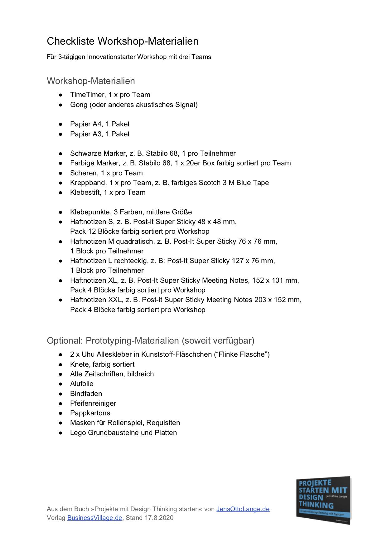 5. Checkliste Workshop-Materialien herunterladen