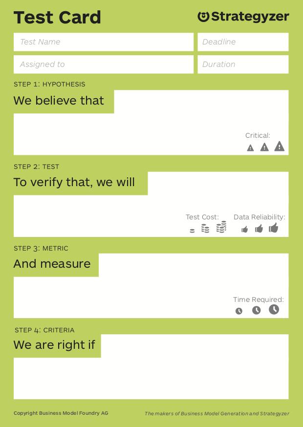 15. Strategyzer Test Card für Test-Design herunterladen