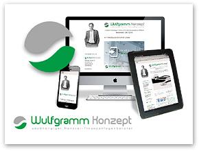 Montage: Responsive Website unter wulfgramm-konzept.de | Wulfgramm Konzept UG (haftungsbeschränkt), Hamburg