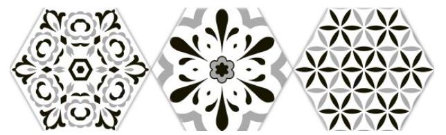 Lhexagonal deco black Oset