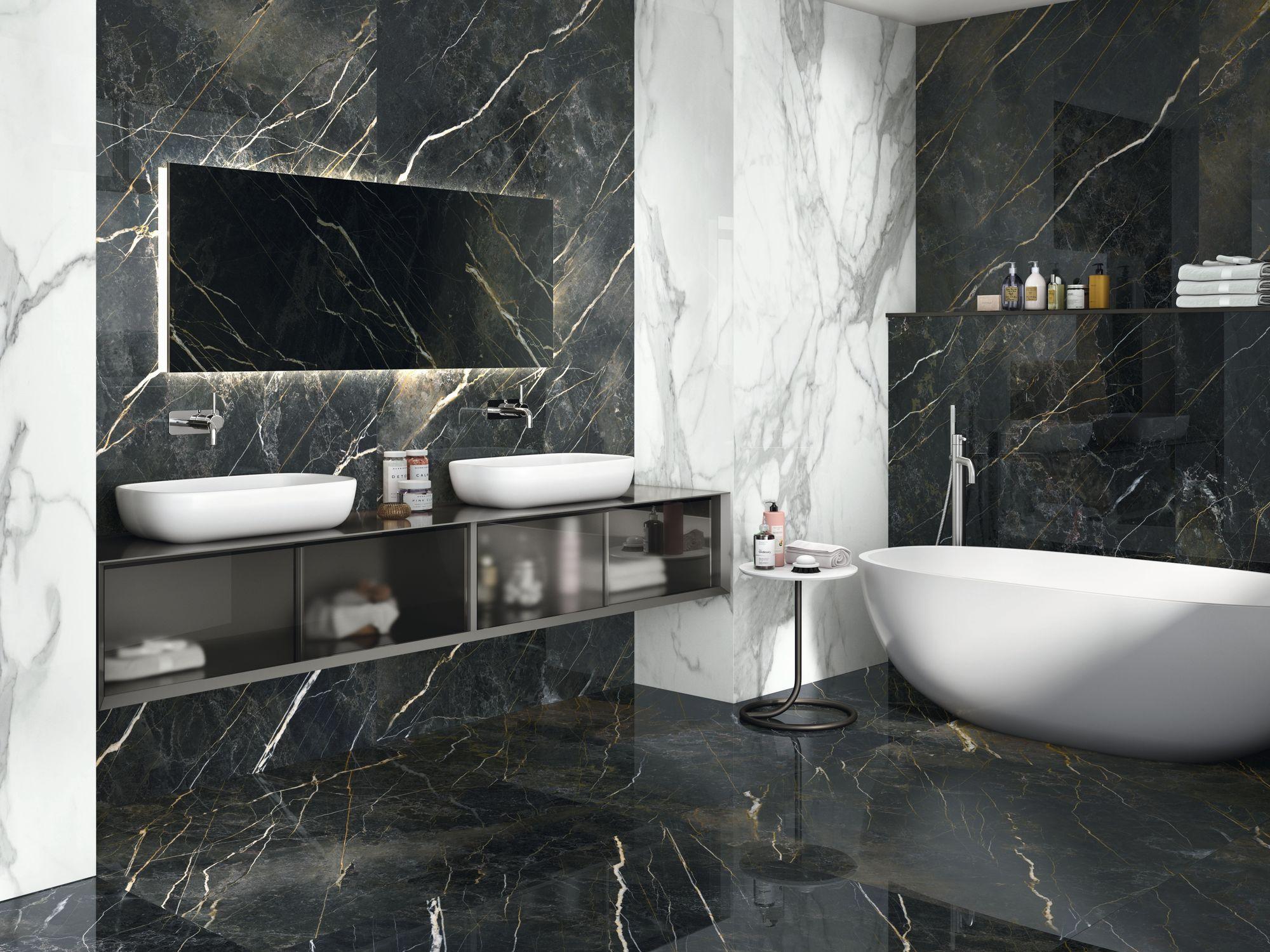 Carrelage aspect marbre Quiberon