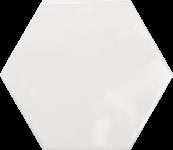 Faience hexagonal la trinité sur mer White