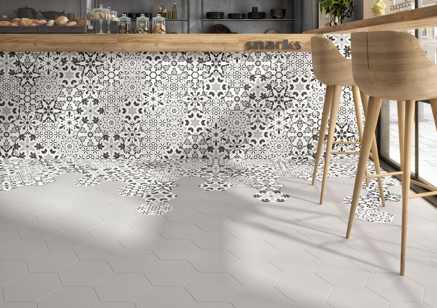 Carrelage hexagonal 20x24cm