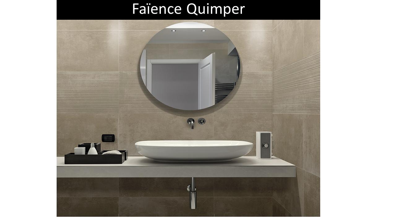 Carrelage salle de bain Quimper taupe