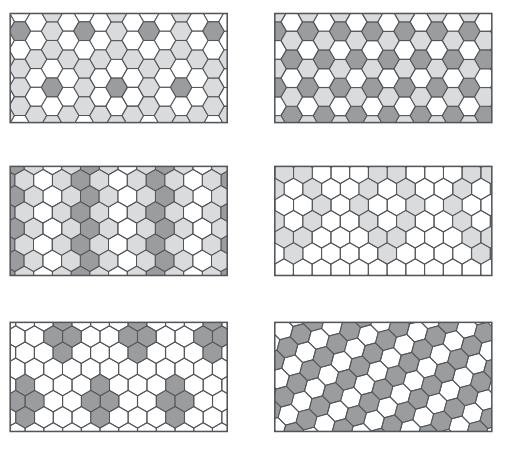 Type de pose de carrelage hexagonal