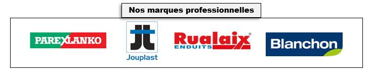 Bricomarques: nos marques professionnelles (Parexlanko, Jouplast, Rualaix, Blanchon)