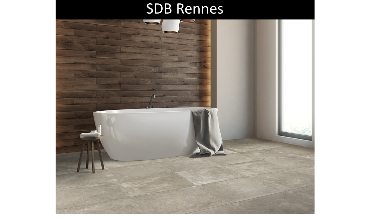 Carrelage sol Rennes taupe