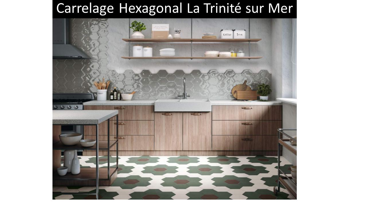 Carrelage hexagonal cuisine la trinité sur mer