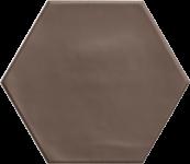 Carrelage hexagonal grès cérame Brown
