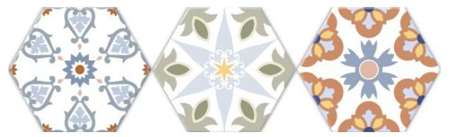 Hexagonal deco colors versalles oset