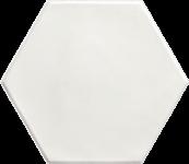 Carrelage hexagonal grès cérame White