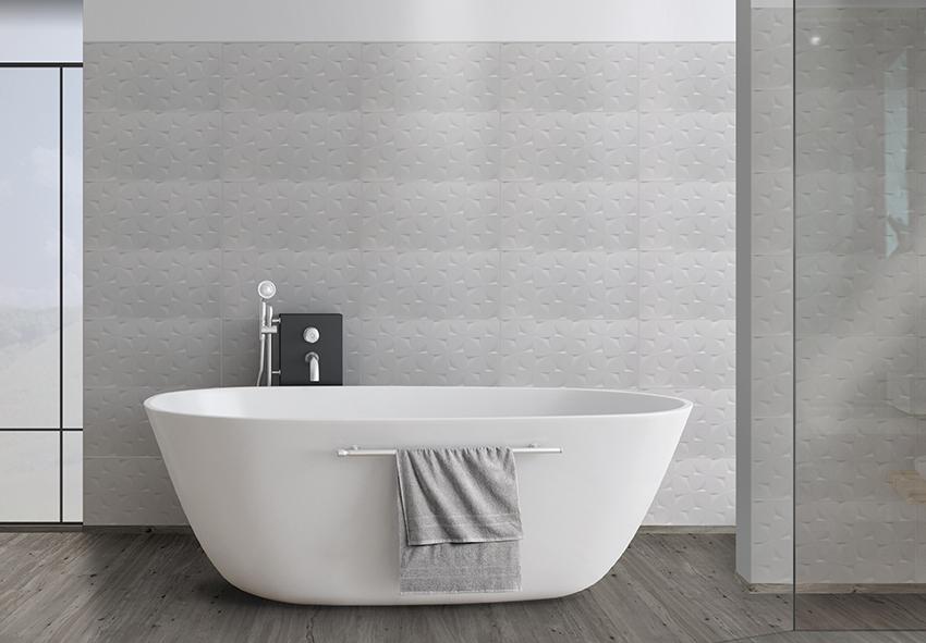 Faïence Quimper Salle de bain décor White