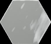Faience hexagonal la trinité sur mer Grey