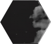 Faience hexagonal la trinité sur mer Black