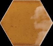 Faience hexagonale ile de groix Ocre