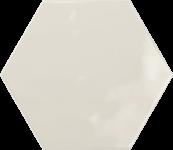 Faience hexagonal la trinité sur mer creme