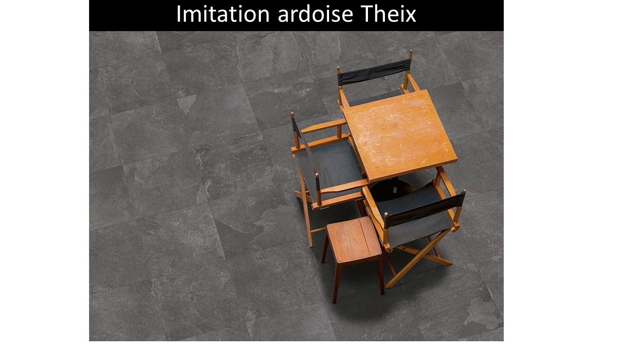 Carrelage extérieur grès de Theix Anthracite