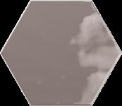 Faience hexagonal la trinité sur mer Charcoal