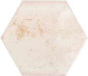 Faience hexagonale ile de groix Rose