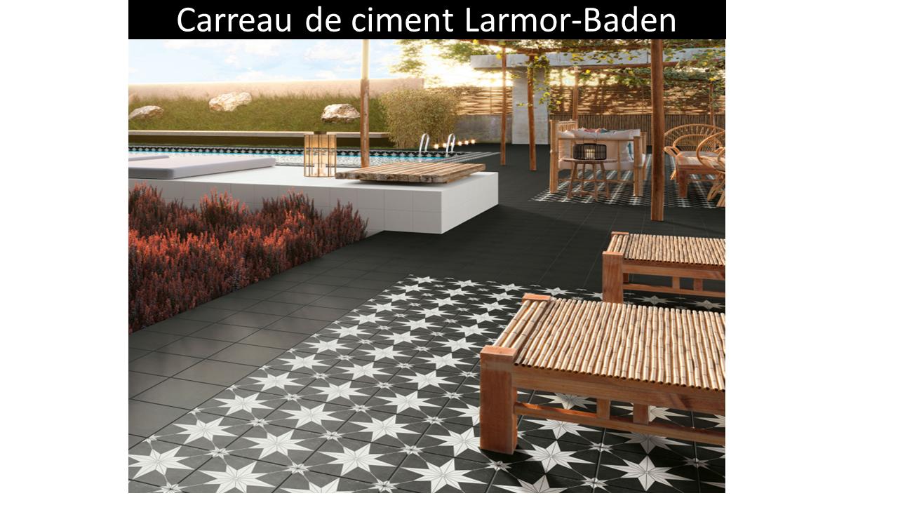 Carreau de ciment extérieur Larmor-Baden