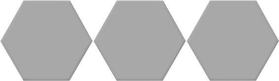 Carrelage hexagonal gris