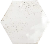 Faience hexagonal ile de groix White