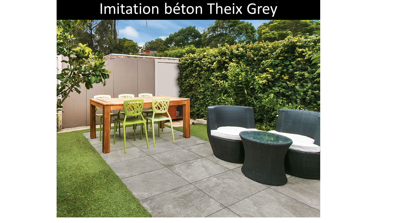 Carrelage effet Pierre Theix Grey