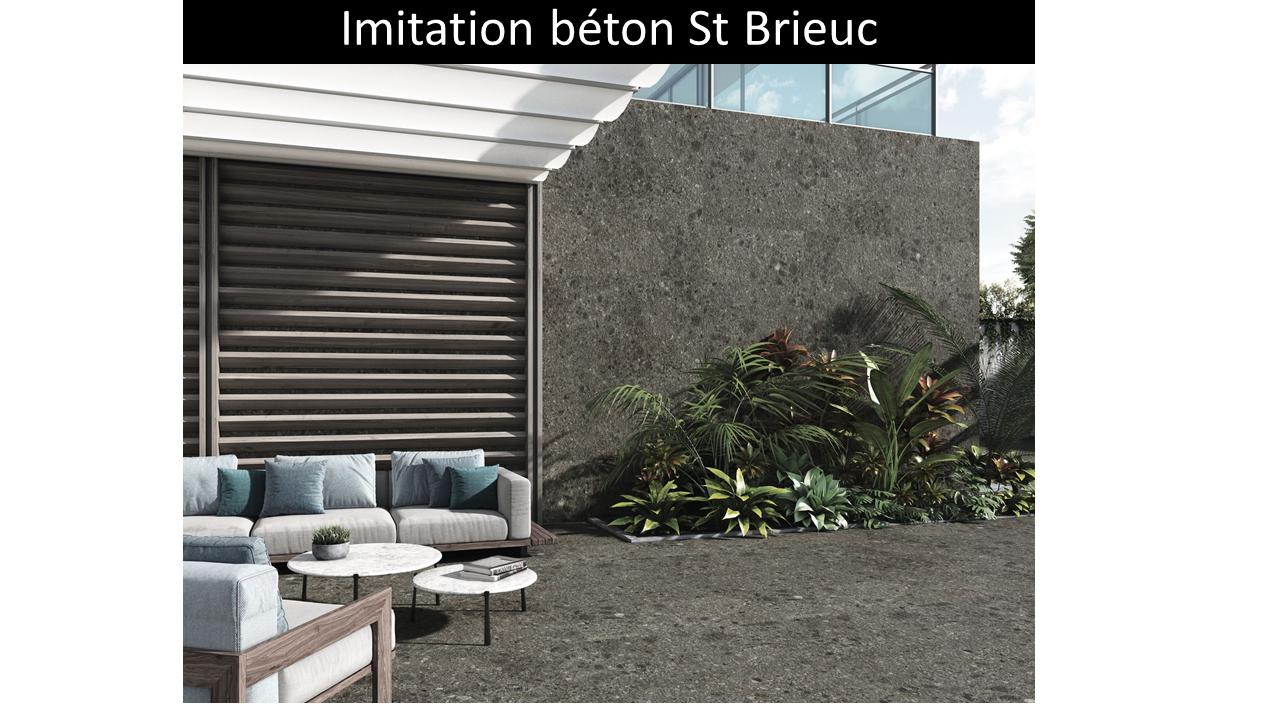 Carrelage effet terrazzo ST Brieuc  Black 60x60cm