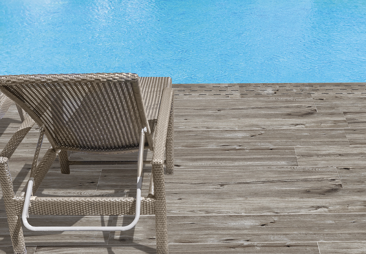 Carrelage piscine extérieure St Malo Grigio