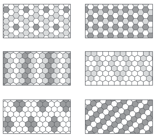 Type de pose de carrelage hexagonal