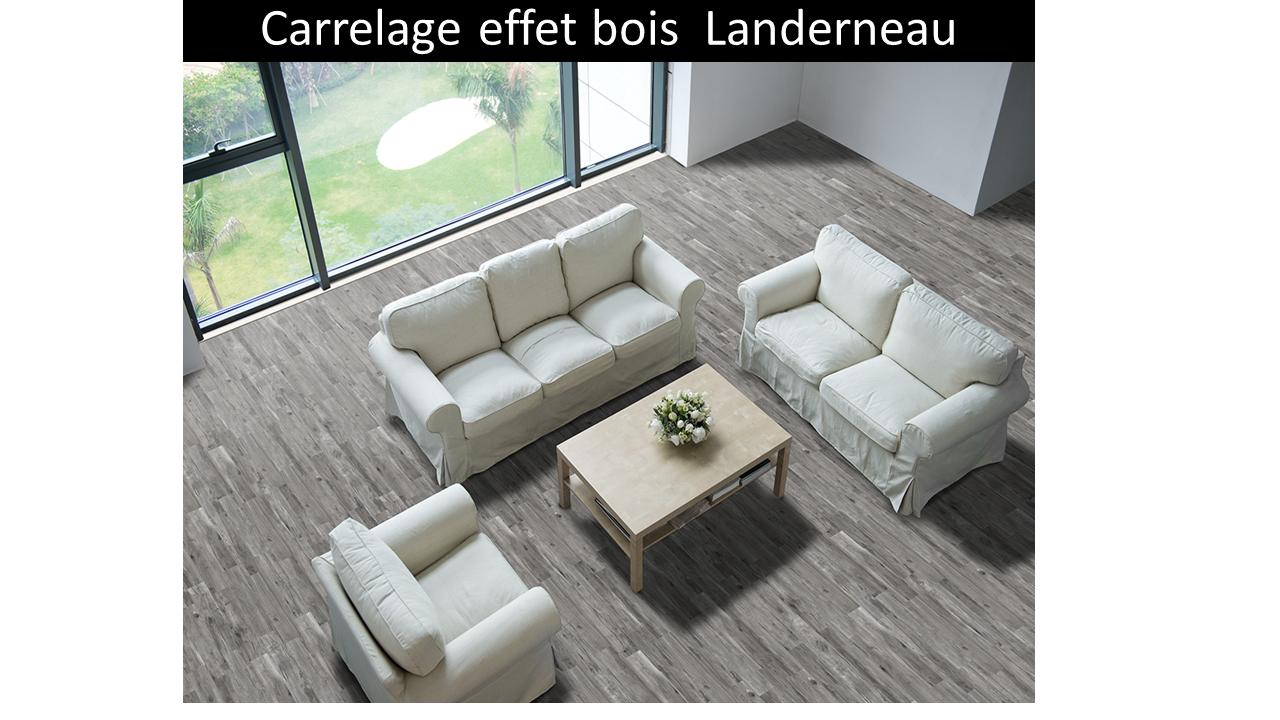 carrelage imitation bois gris Landerneau