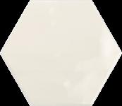 Faience hexagonal la trinité sur mer Ivory