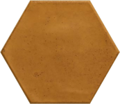 Carrelage hexagonal grès cérame Ocre
