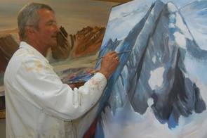 Beim Malen eines Nationalparkdreitausenders...