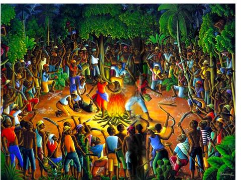 Die Zeremonie in Bwa Kaiman am Vorabend der haitianischen Revolution.