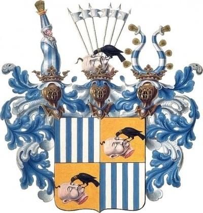 Родовой герб одного из богатейший родов Австрии немецкого происхождения, владевшего в свое время практически всей Южной Чехией, и сыгравшего значительную роль в истории Европы — это герб рода ШВАРЦЕНБЕРГ.