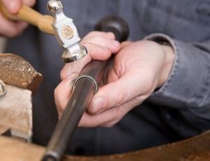 パラジウムリングも鍛造製法でお造りします