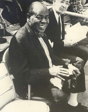 Louis Armstrong alla partita dei NY Mets