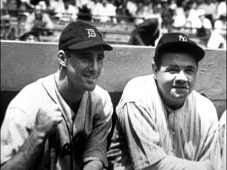 Hank Greenberg con Babe Ruth